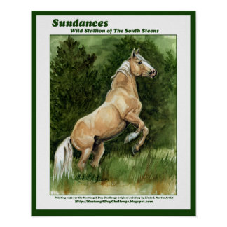 Sundances Wild Stallion of the South Steens Print