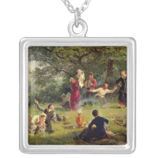 Sunday, 1884 silver plated necklace