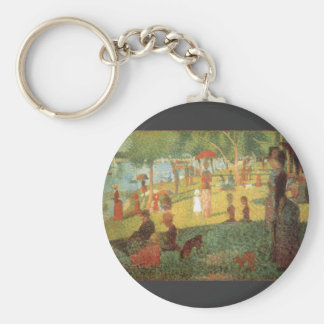 Sunday Afternoon by Georges Seurat Keychain