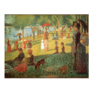 Sunday Afternoon by Georges Seurat Postcard