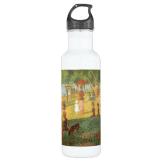 Sunday Afternoon by Georges Seurat Stainless Steel Water Bottle