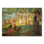 Sunday Afternoon by Georges Seurat Stationery Note Card