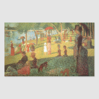 Sunday Afternoon by Georges Seurat Rectangular Sticker