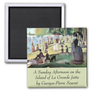 Sunday Afternoon, Island La Grande Jatte by Seurat 2 Inch Square Magnet