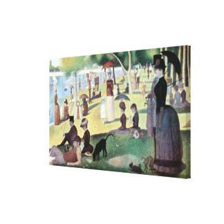 Sunday Afternoon, Island La Grande Jatte by Seurat Canvas Print
