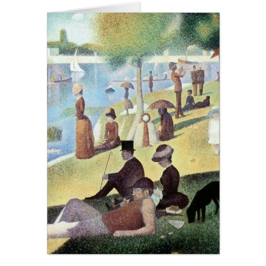 Sunday Afternoon, Island La Grande Jatte by Seurat Card
