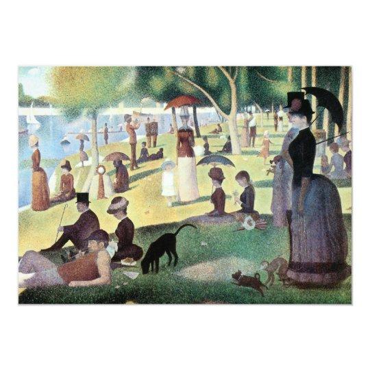 Sunday Afternoon, Island La Grande Jatte by Seurat Card