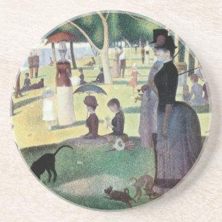 Sunday Afternoon, Island La Grande Jatte by Seurat Coaster