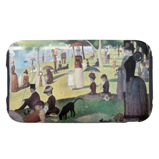 Sunday Afternoon, Island La Grande Jatte by Seurat iPhone 3 Tough Case