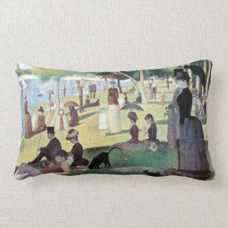 Sunday Afternoon, Island La Grande Jatte by Seurat Lumbar Pillow