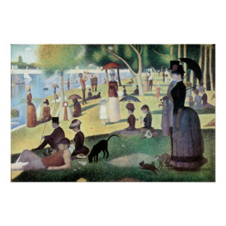Sunday Afternoon, Island La Grande Jatte by Seurat Poster