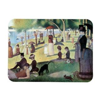 Sunday Afternoon, Island La Grande Jatte by Seurat Rectangular Magnets