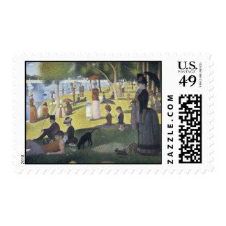 Sunday Afternoon Island  La Grande Jatte by Seurat Stamp
