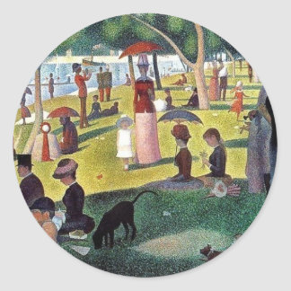 Sunday Afternoon La Grande Jatte - Georges Seuratt Classic Round Sticker