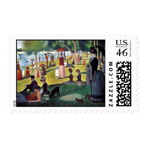Sunday Afternoon La Grande Jatte - Georges Seuratt Postage Stamps