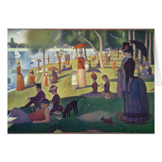 Sunday Afternoon on the Island of La Grande Greeting Card