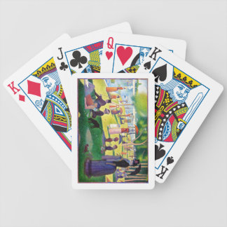 Sunday Afternoon On The Island Of La Grande Jatte Bicycle Playing Cards