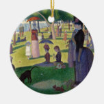Sunday Afternoon on the Island of La Grande Jatte Christmas Tree Ornaments