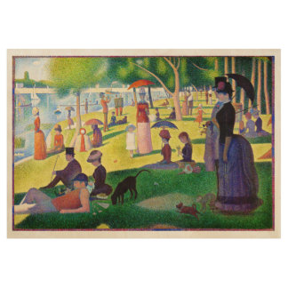 Sunday Afternoon On The Island Of La Grande Jatte Wood Poster
