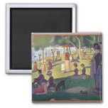 Sunday Afternoon on the Island of La Grande 2 Inch Square Magnet
