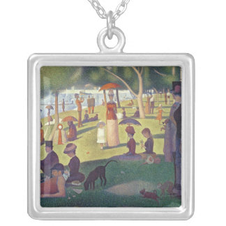 Sunday Afternoon on the Island of La Grande Silver Plated Necklace