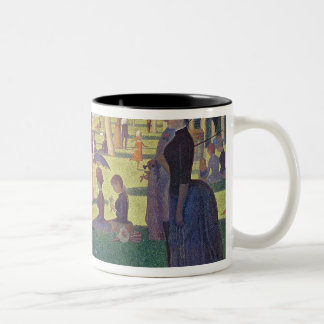 Sunday Afternoon on the Island of La Grande Two-Tone Coffee Mug
