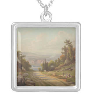 Sunday Afternoon on the West Point Road Silver Plated Necklace