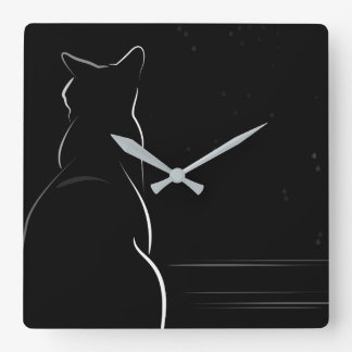 Sunday Afternoon Square Wall Clock
