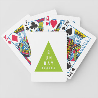 Sunday Assembly Triangle Dark Green Bicycle Playing Cards