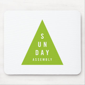 Sunday Assembly Triangle Dark Green Mouse Pad