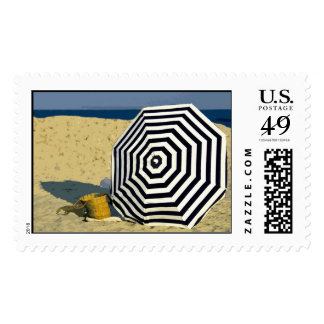 Sunday at The Beach Postage Stamp
