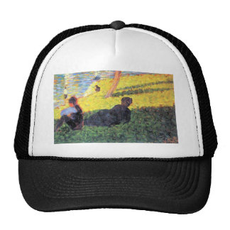 Sunday at the Grand Jatte, study 2 by Seurat Mesh Hats