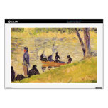 """Sunday at the Grand Jatte, study by Georges Seurat Decals For 17"""" Laptops"""