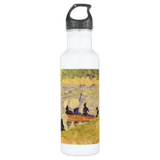 Sunday at the Grand Jatte, study by Georges Seurat Stainless Steel Water Bottle