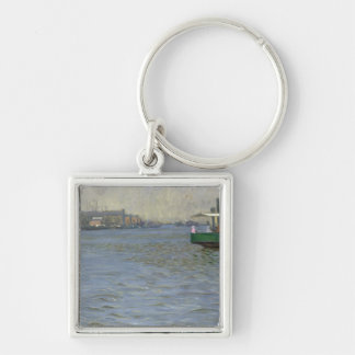 Sunday Atmosphere on the Elbe Keychain