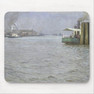 Sunday Atmosphere on the Elbe Mouse Pad