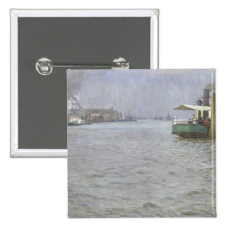 Sunday Atmosphere on the Elbe Pinback Button