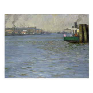 Sunday Atmosphere on the Elbe Postcard