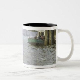 Sunday Atmosphere on the Elbe Two-Tone Coffee Mug