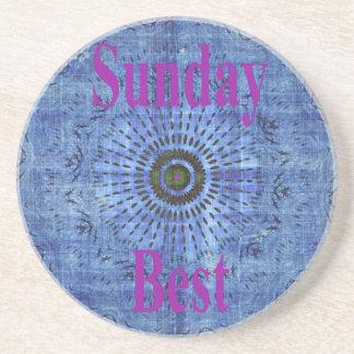 Sunday Best Sandstone Coaster