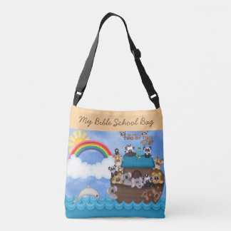 Sunday Bible School Noahs Ark of Animals Flood Tote Bag