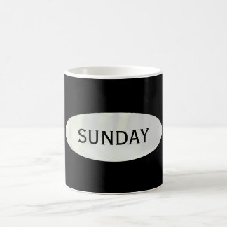 Sunday Black Coffee Break Mug by Janz