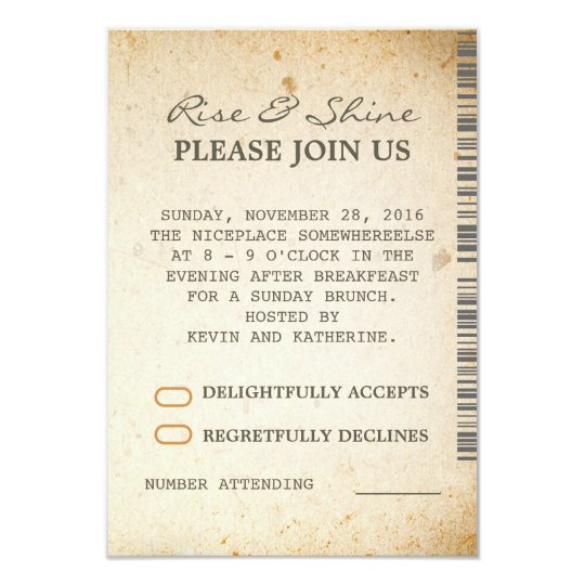 sunday brunch additional wedding rsvp cards zazzle com