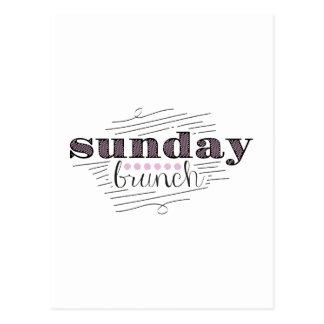 Sunday Brunch Postcard