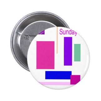 Sunday 2 Inch Round Button