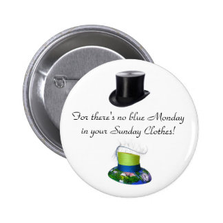 Sunday Clothes Hats 2 Inch Round Button