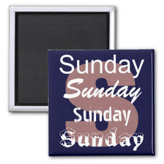 Sunday Day of the Week Magnet