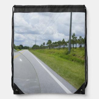 Sunday Drive Drawstring Bag