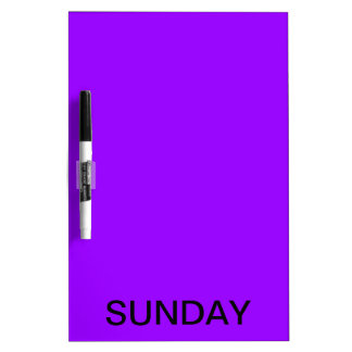 Sunday Dry Erase Board Calendar Tools