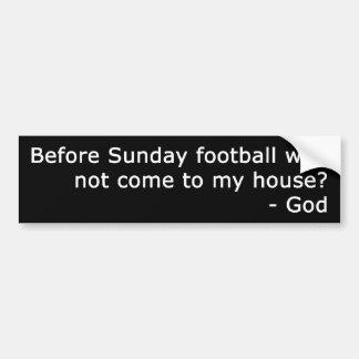 Sunday Football Bumper Sticker